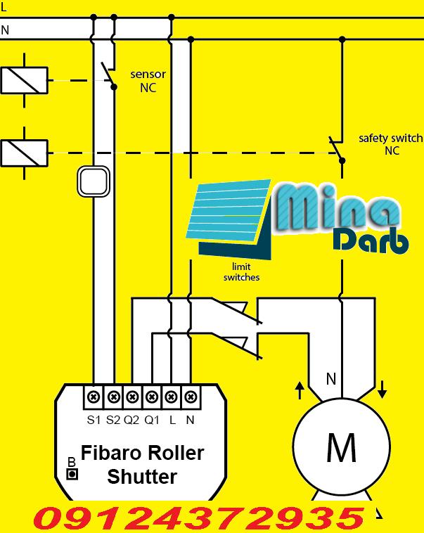 آموزش تصویری موتور کرکره برقی